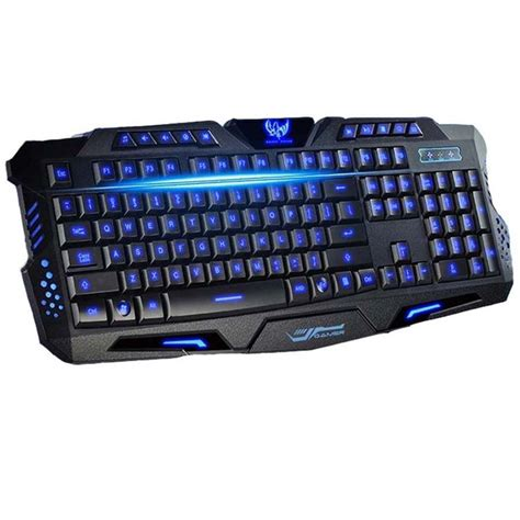 Keyboard Komputer Advance Tri Color Led Backlight Gaming Advanced Keyboard For Pc