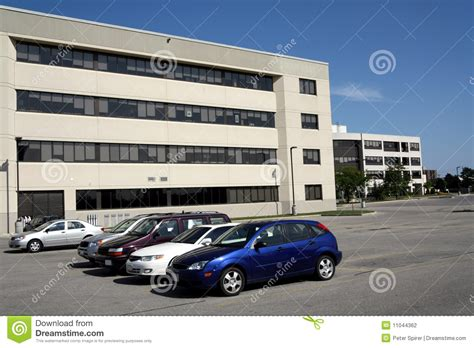 build on my lot office building and parking lot stock photo image 11044362