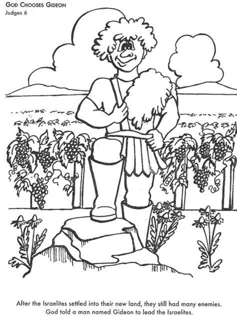 coloring page for gideon 1000 images about sunday school gideon on pinterest