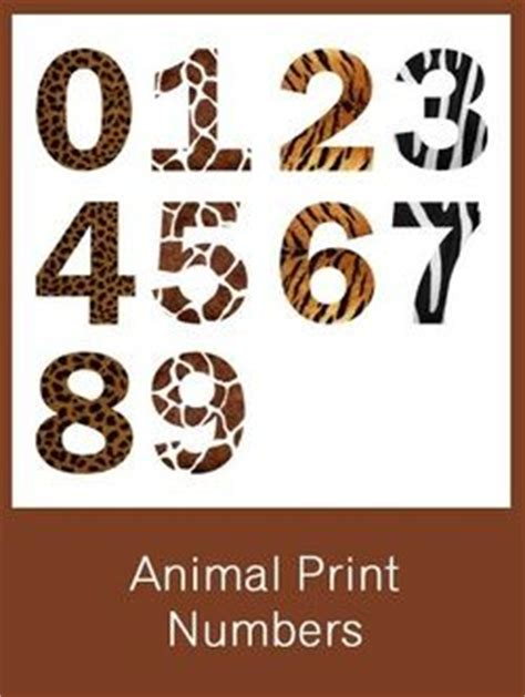 free printable zebra print numbers animal print numbers free pdf download birthday party