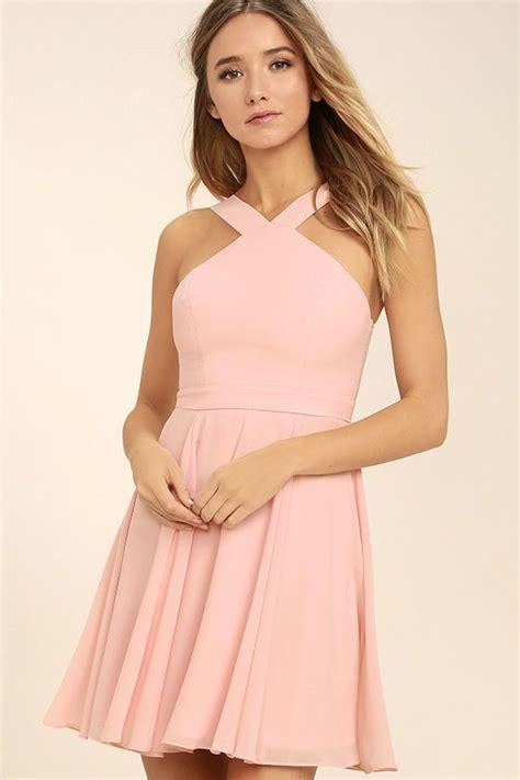 forevermore light pink skater dress cute dresses