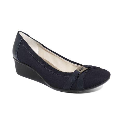 sport wedges shoes klein sport definitely wedges in blue navy lyst