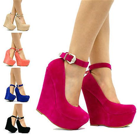 Wedges Boot Style Marun womens wedge high heel platform ankle prom shoes boots w41 ebay
