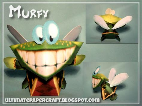 rayman murfy papercraft by squeezycheesecake on deviantart