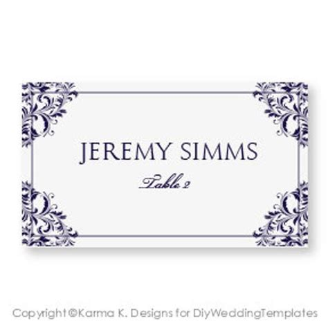 place card template wedding word wedding place card template by diyweddingtemplates