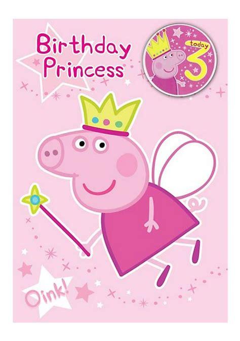 Third Birthday Card Peppa Pig 3rd Birthday Card Pop Prop And Fold Pinterest
