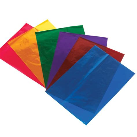 colored cellophane sheets a4 cellophane sheets pack of 48 card paper from