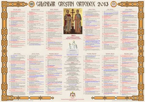 Calendar Crestin Ortodox Calendar Ortodox 2013 C 226 Nd Sunt Marile Sărbă