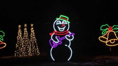 light o rama santa claus is coming to town singing snowman with light