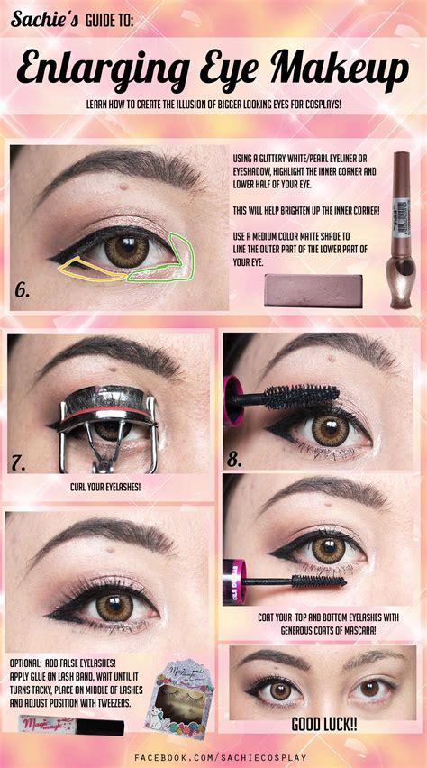 tutorial eyeliner cosplay lovely complex tutorial brows enlarging eye makeup
