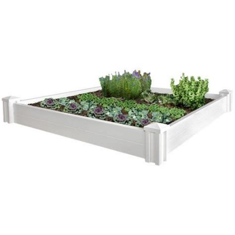 vinyl raised garden beds new england arbors vinyl versailles raised garden bed