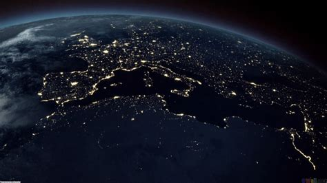 Wallpaper Earth At Night | earth at night europe hd wallpaper wide screen