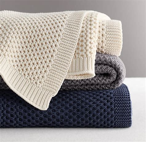 knitted throw chunky cotton knit throw