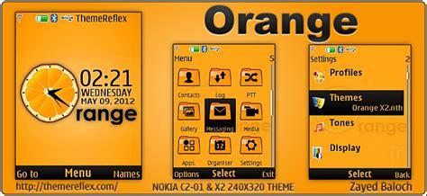 themes nokia orange orange theme themereflex