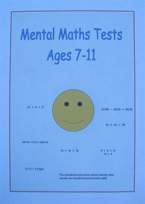 test mentali mental maths tests for each year aged 7 8 9 10