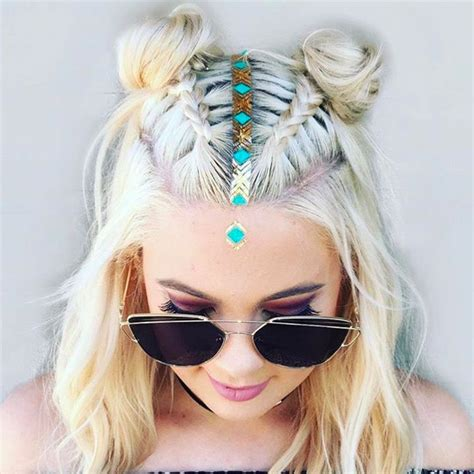hairstyles for rave party the 22 trillest tresses we spotted at coachella mane