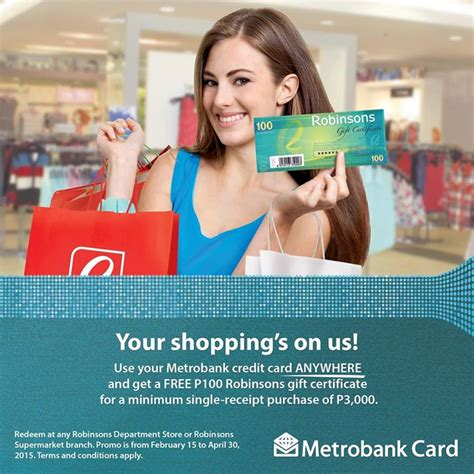 Robinsons May Gift Card - metrobank credit card promo p3000 spend p100 robinsons gift certificate barat ako