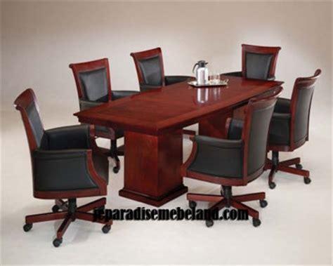 Meja Rapat Kayu Jati meja rapat kayu jati jual set kursi meja meeting harga murah jual mebel jepara