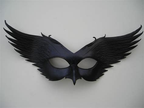 printable raven mask leather raven mask original handcrafted leather by