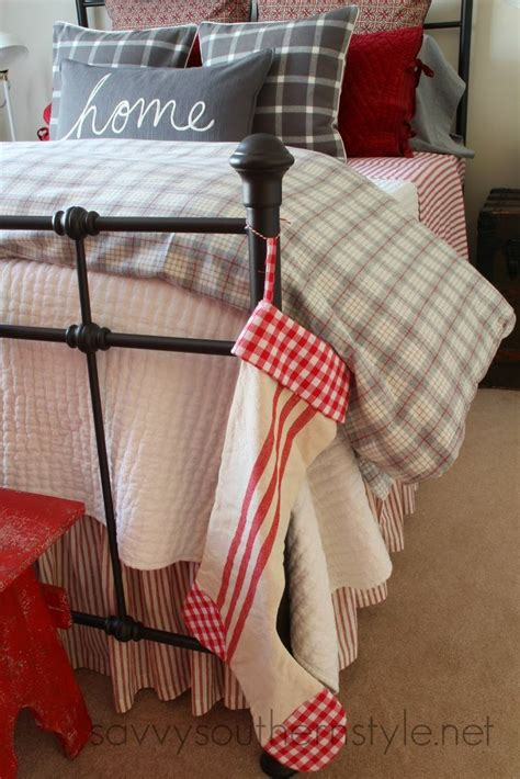 ll bean home decor farmhouse guest room christmas flannel bedding pottery