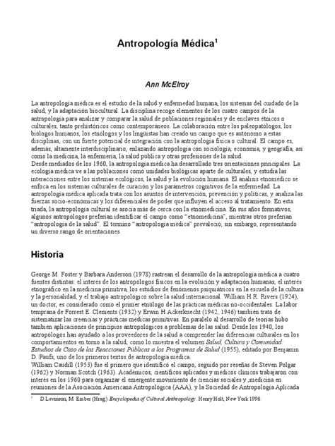 antropología médica | Antropología | Antropología médica