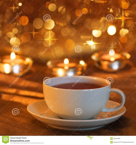 Tea Time To Christmas Royalty Free Stock Photos   Image: 20321268