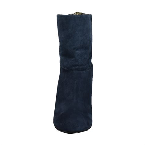 blue suede ankle boot aversa shoes s r l