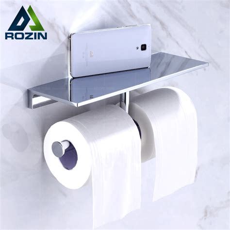 luxury toilet paper holder luxury double roll toilet paper holder with mobile phone