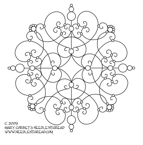 free hand embroidery pattern another scrolly medallion