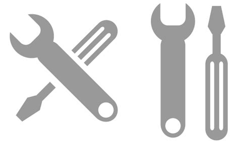 free design logo tool hand wrench tool spanner vector download free vector