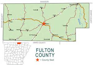 fulton county map encyclopedia of arkansas