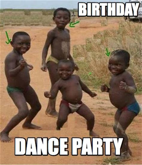 Dancing African Child Meme - meme creator birthday dance party meme generator at