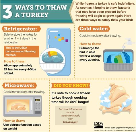 how to thaw a frozen turkey hobnob branson
