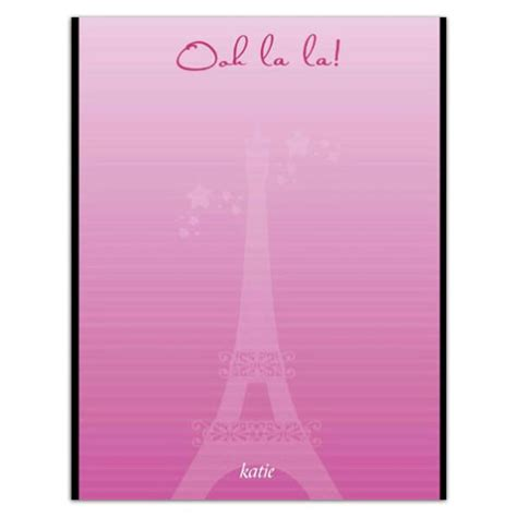 Baby Shower Napkins by Eiffel Tower Paris Note Pad Paperstyle