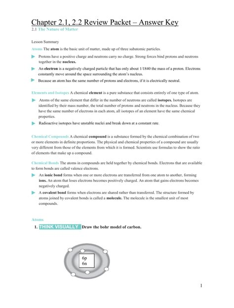 11 1 section assessment biology chemistry of life review worksheet chapter 2 answer key