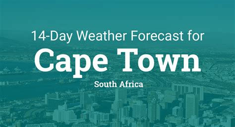 cape town south africa  day weather forecast