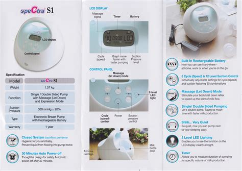 Spectra S1 Single Breastpump Breast S 1 Spectra Baby pumponthego 187 spectra s1 electric