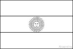 Argentina Flag Outline colouring book of flags central and south america
