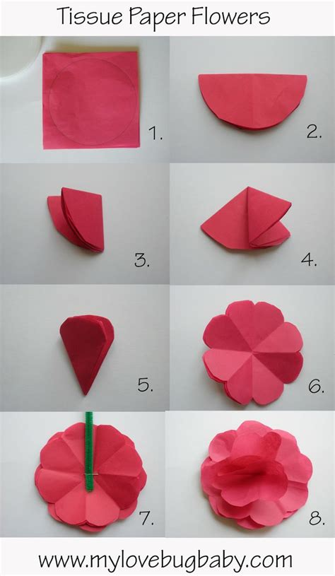 How To Make A Tissue Paper Flower Bouquet - tissue paper flower bouquet a present from me to you