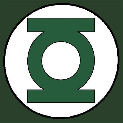 superhero logo template green lantern emblem white