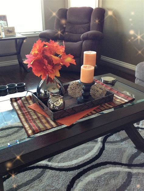 coffee table decor ideas 43 fall coffee table d 233 cor ideas digsdigs