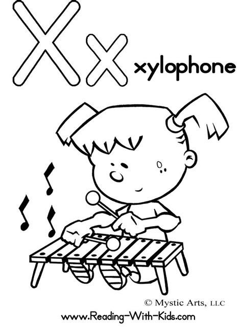 Letter X Coloring Pages Preschool by Spikindergarten Licensed For Non Commercial Use Only