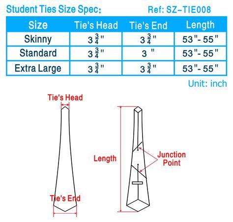 tie size chart tie length chart necktie size chart