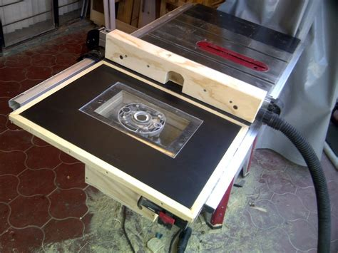 router table and fence on my table saw by jorge velez