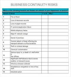 Downtime Analysis Template by Business Impact Analysis 6 Free Pdf Doc