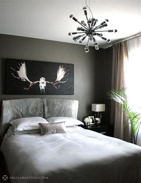 dark gray walls bedroom the sputnik and a mini makeover erika brechtel