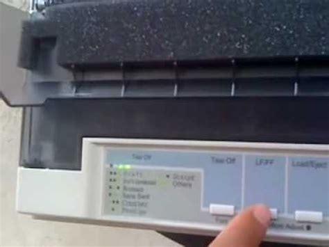 reset printer epson lq 2180 how can set auto tear off lq 300 youtube