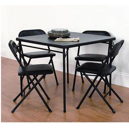 Folding Card Table And Chairs 5 Pc Set by Mainstays 5 Pc Card Table Set Walmart
