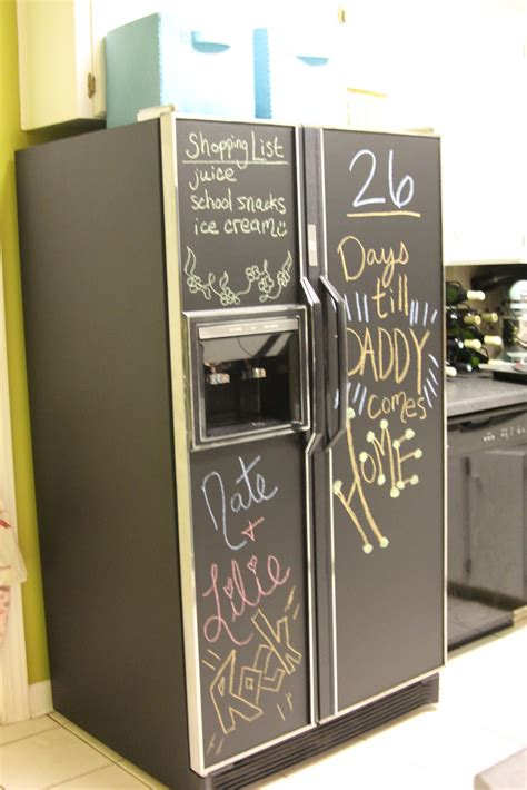 chalkboard paint on fridge fridge chalkboard courtesy of vendelsheritage de