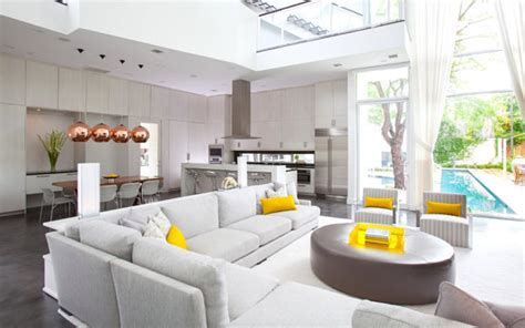 Gray Living Room With Pop Of Color The Relationship Between Interior Design Color And Mood